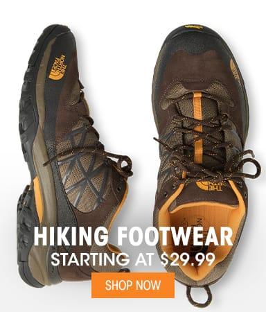 Hiking Footwear - Starting at $29.99