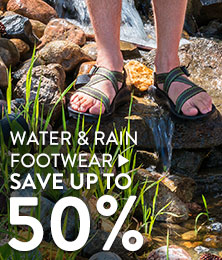 Water and rain footwear - save up to 50%