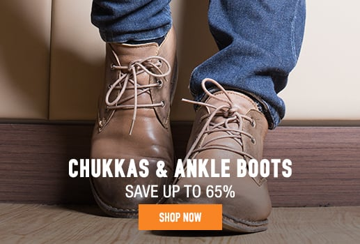 Chukkas & Ankle Boots - save up to 65%