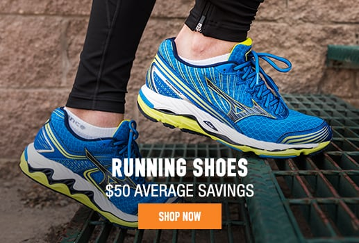 Running Shoes -$50 average savings