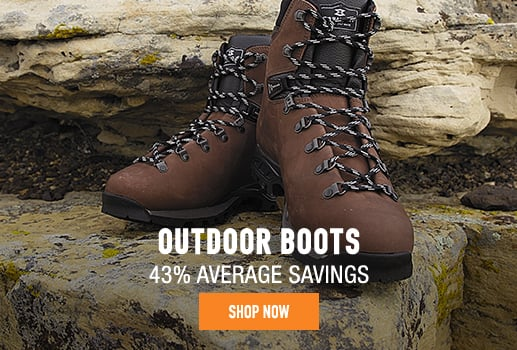 Outdoor Boots - 43% average savings