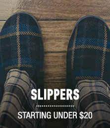 Slippers - starting under $20