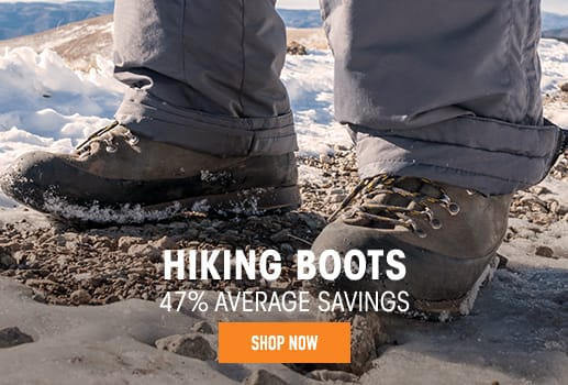 Hiking Boots - 47% average savings