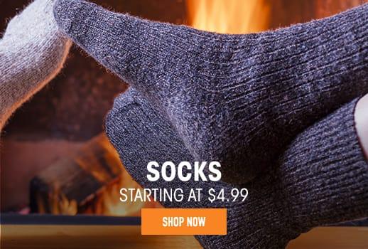 Socks - starting at $4.99