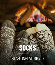 Socks - starting at $6.50