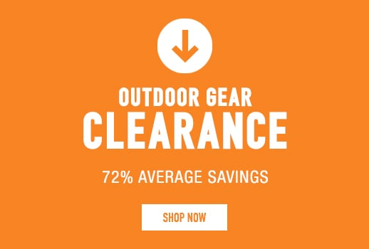 Outdoor Gear Clearance - 72% average savings