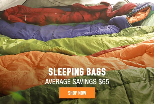 Sleeping Bags - average savings $65