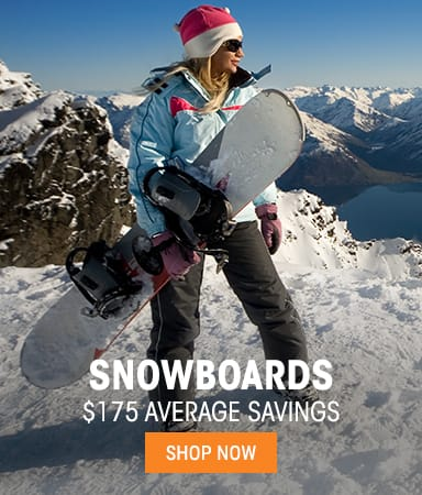 Snowboards $175 average savings