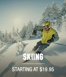 Skiing - Starting at $19.95