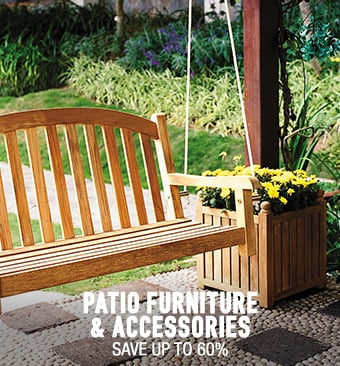 Patio Furniture & Accessories - save up to 50%