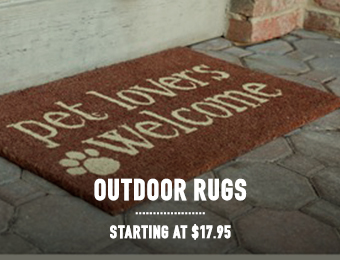 Outdoor Rugs - starting at $17.95