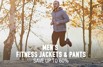 Men's Fitness Jackets & Pants - save up to 60%