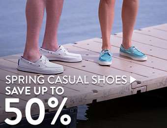 Spring Casual Shoes - save up to 50%