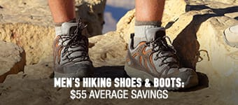 Men's Hiking Shoes & Boots - average savings $55