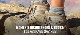 Women's Hiking Shoes & Boots - average savings $55