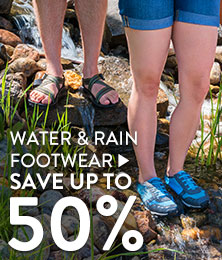 Water & rain footwear - save up to 50%