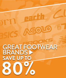 Great Footwear Brands - save up to 80%