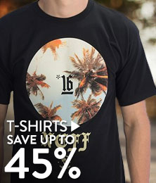T-shirts - save up to 45%