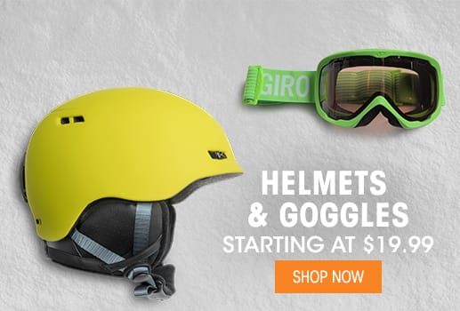 Helmets & Goggles - Starting at $19.99