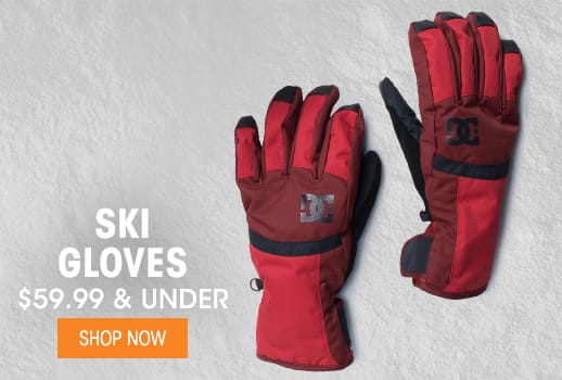 Ski Gloves - $59.99 & Under