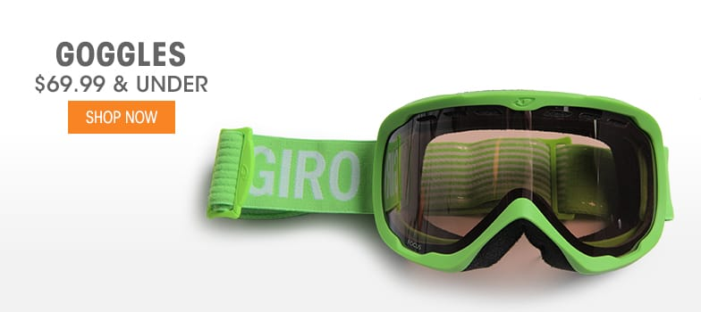 Goggles - $69.99 & Under