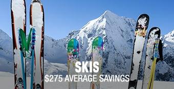 Skis - average savings $275