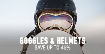Goggles & Helmets - save up to 45%