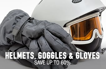 Helmets, Goggles & Gloves - save up to 60%