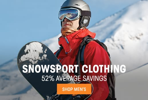 Men's Snowsport Clothing - 52% average savings