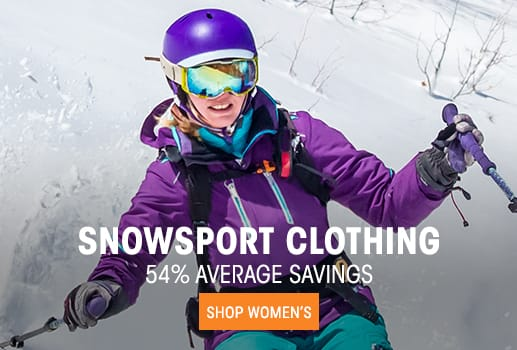 Women's Snowsport Clothing - 54% average savings
