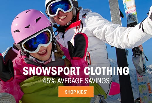 Kids' Snowsport Clothing - 45% average savings