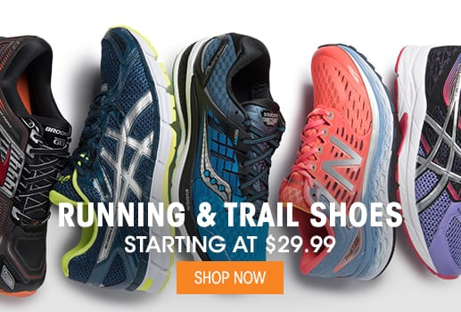 Running & Trail Shoes - Starting at $29.99