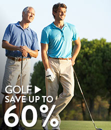 Golf - save up to 60%