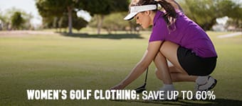Women's Golf Clothing - save up to 60%