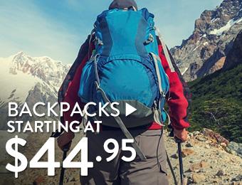Backpacks - starting at 44.95