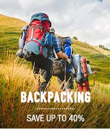 Backpacking - save up to 40%