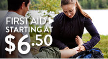 First Aid - starting at $6.50