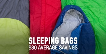 Sleeping Bags - average savings $80