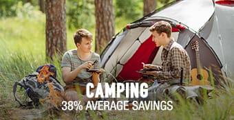 Camping - 38% average savings