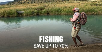 Fishing - save up to 70%