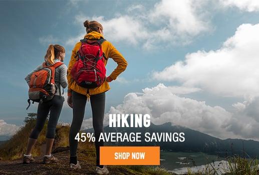 Hiking - % average savings