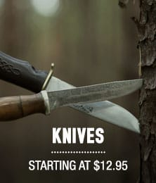 Knives - starting at $12.95