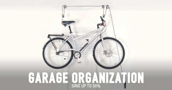 Garage Organization - save up to 50%