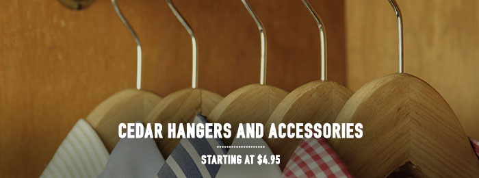Cedar Hangers and Accessories - starting at $4.95
