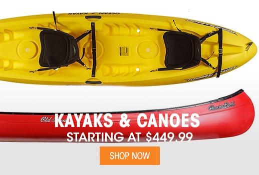 Kayaks & Canoes - Starting at $449.99