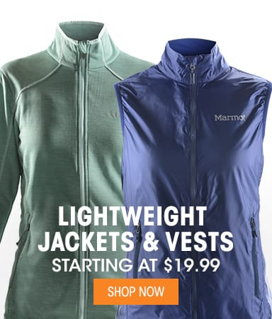 Lightweight Jackets & Vests  - Starting at $19.99
