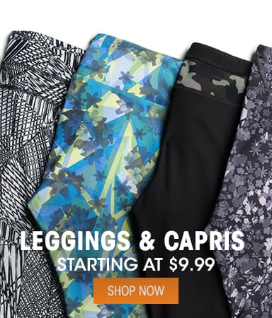 Leggings & Capris - Starting at $9.99
