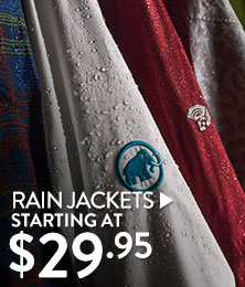 Rain Jackets - starting at $29.95