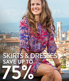 Skirts & Dresses - save up to 75%