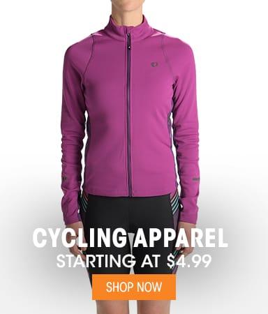 Cycling Apparel - Starting at $4.99